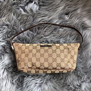 Gucci Mini Shoulder Bag Porchette GG Brown